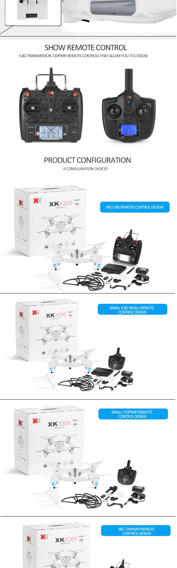 X300 2017 Latest RC Drone with Optical Positioning Multi Versions