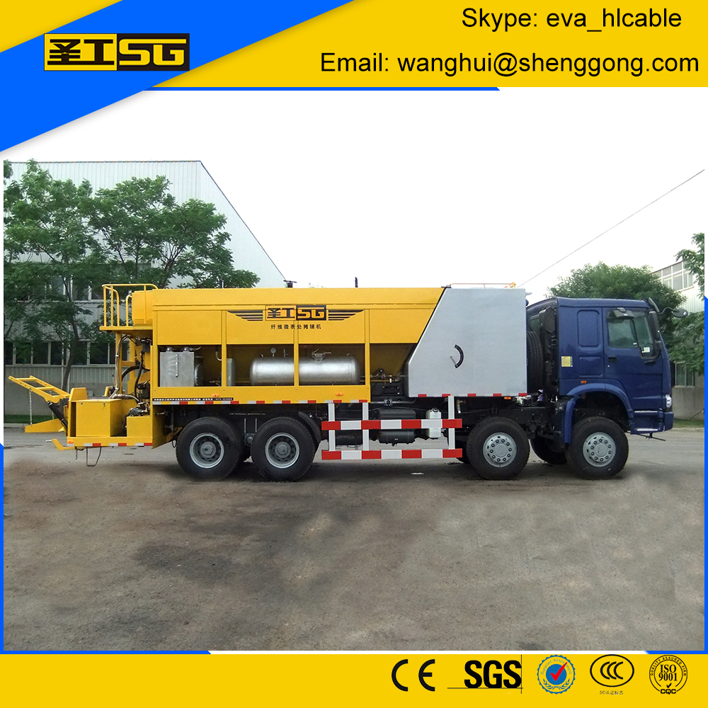 Micro Surfacing Paver Truck, Slurry Sealing Machine