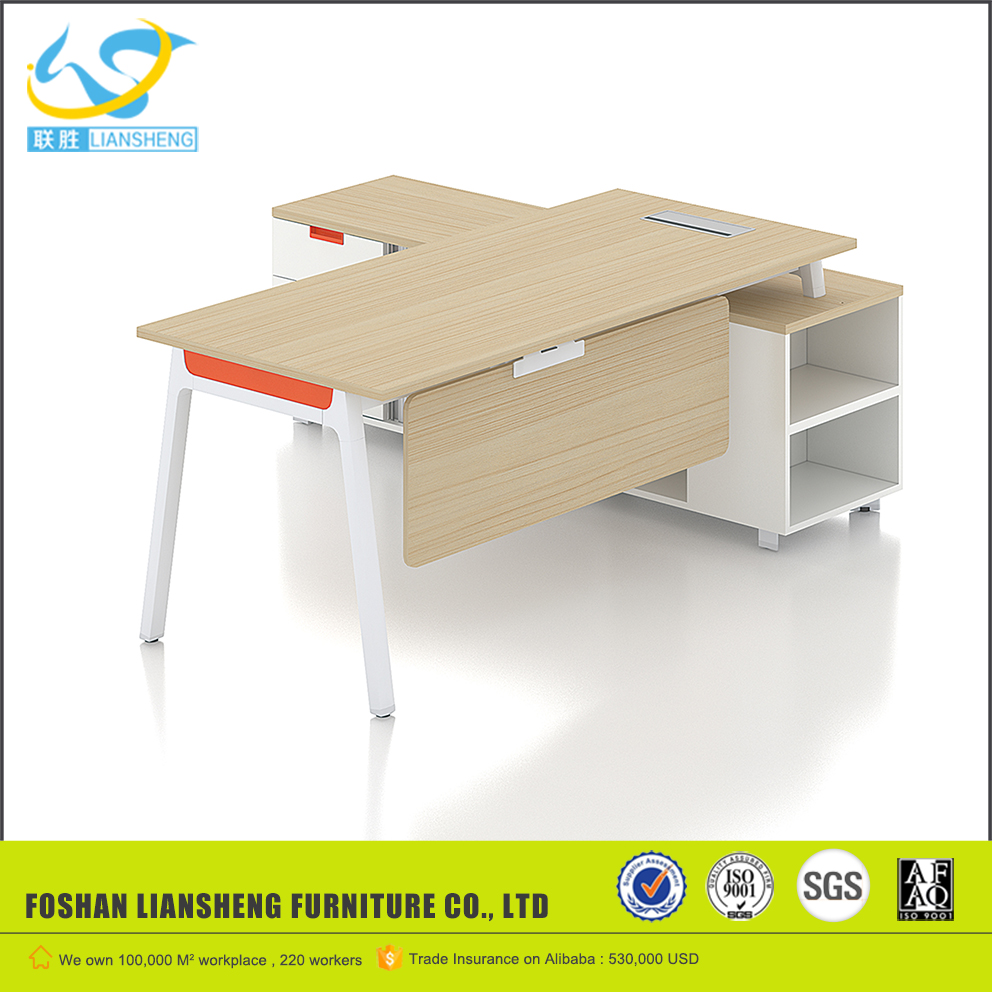 Latest wooden office table designs l shaped modern office executive desk
