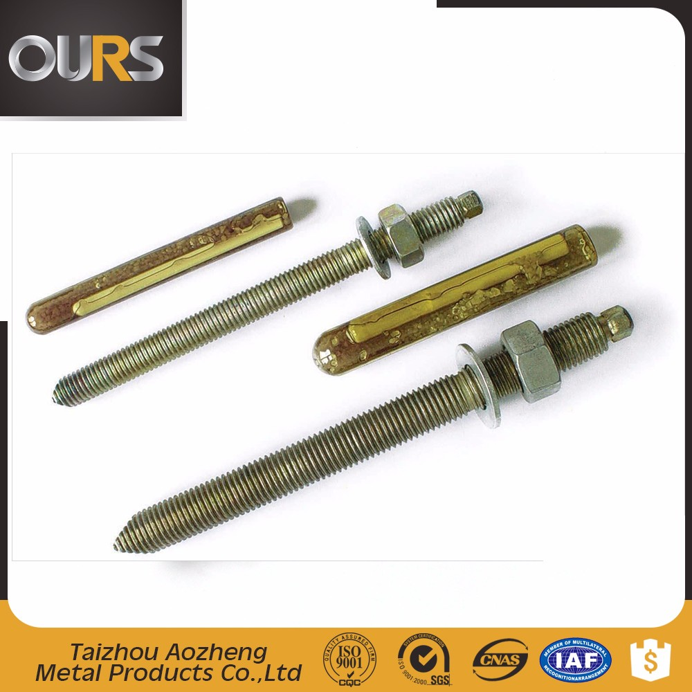 DIN standard good quality Steel material Chemical Anchor Bolt from direct factory