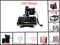 CE approved 8 in 1 combo heat printing press machine, sublimation machine