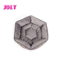 wholesale hexagon grey pet bed high quality orthopedic dog bed