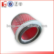 Low resistance auto pleated fuel filter