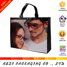 creative design pp non woven laminated photo bag for packaging gifts