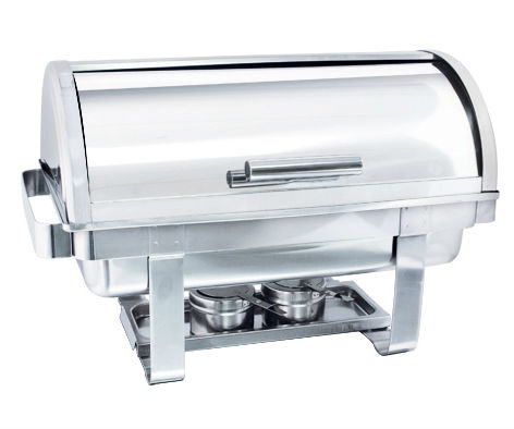 Stainless Steel Half Rolled Full Size Chafing Dish