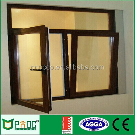 high quality double glass thermally broken aluminium tilt turn window PNOC102720LS