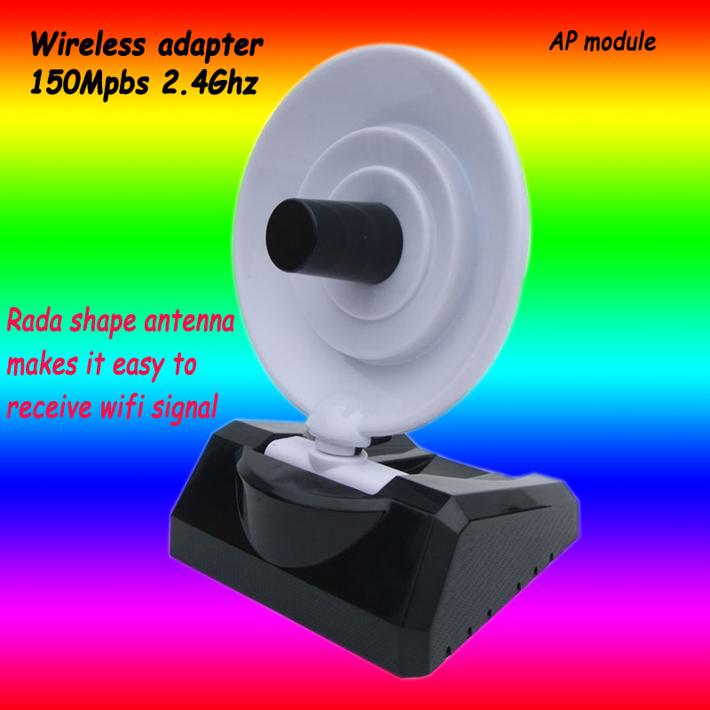 2.4G 150Mbps new wireless adapter with 10Dbi Rada shape directional antenna