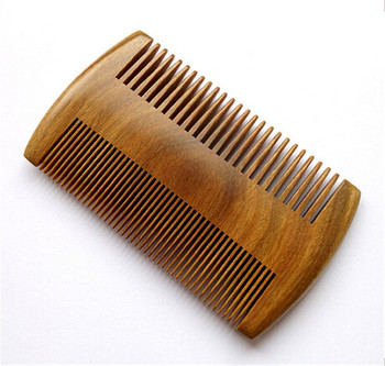 green sandalwood wide tooth lice comb wooden beard comb