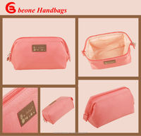 2014 New Trendy Wholesale Pink Delicate Practical Nylon Cosmetic Travel Case