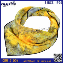 oil painting fashion small square women 20 inch head hair Wrap van gogh 100% silk head scarf