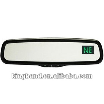 how to set temperature on rear view mirror