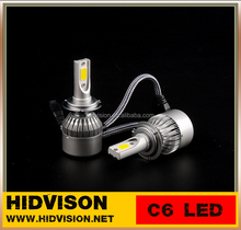 Auto 9V-36V 72W 7600LM Car Truck Headlight Bulbs C6 H7 COB Chip Car Led H7
