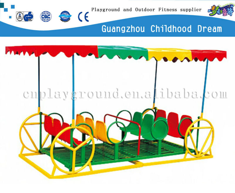(HD-14804)12 swing chairs with decorated tent galvanized metal swing sets