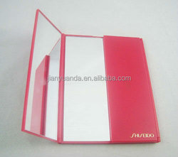 rectangle double sided plastic mirror, three faces makeup mirror, table standing mirror, cosmetic mirror