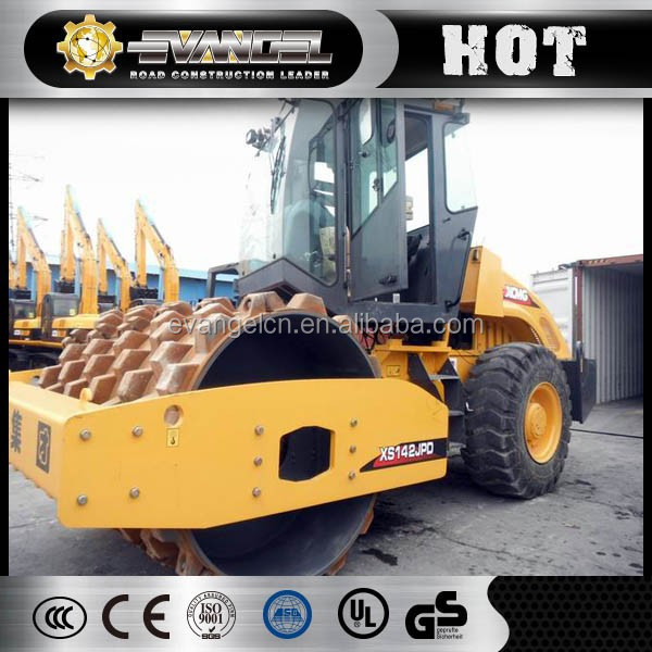 Road construction equipment XCMG single drum vibro roller 14 ton XS142J vibrating roller drum roller