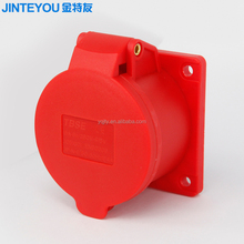 5P 380V 6h IP44 straight industrial plug socket 440v 16a with best price