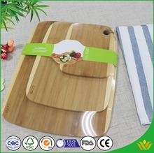 Kitchenware Hygienic Bamboo Cutting Board Set with Metallic Handle