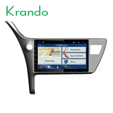 "Krando Android 6.0 10.1"" car gps radio for toyota corolla 2016 2017 2018 multimedia navigation system 4G LTE 2G RAM KD-TC106"