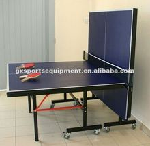 Indoor Single folding table Tennis table with wheels