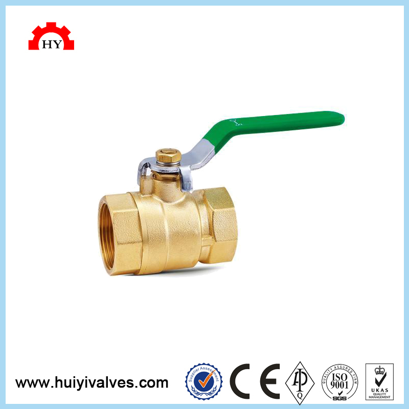 1/2 inch rising stem pn-25 ptfe brass gas female thread ball valve