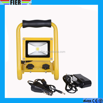 IP65 CE ROHS emergency led flood light 10w rechargeable led flood light