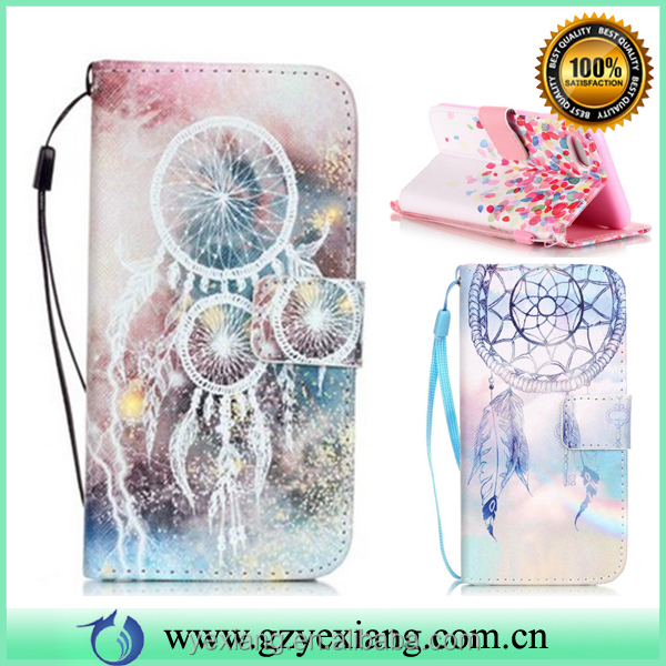 Best selling products flip cover case for Samsung j7 leather back cover case wallet stand case with card holders