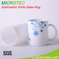 wholesale personalized shot glasses Sublimation White Glass Mug, drink shot glass sublimation shot glass