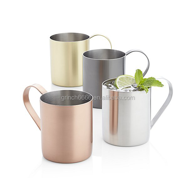 2017 new arrival stainless steel copper moscow mule mug