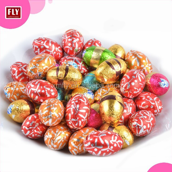 Custom Colorful Easter Eggs Shape Compound Chocolate Candy