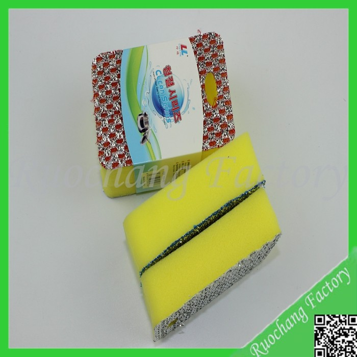 Hot sale High Density Kitchen Scouring Pad Cleaning Sponge