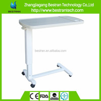 BT-AT002 Four wheels height adjust hospital abs adjustable bed tray