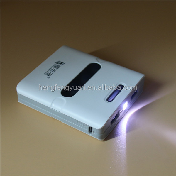 Supliers Products High Quality Factory 12000mAh Dual USB 18650 Power Bank with Torch Light