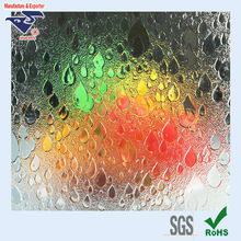 Pattern GPPS plastic Sheet to replace glass folding shower screen