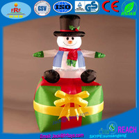 PVC Inflatable Snowman Gift Box For Christmas Decoration