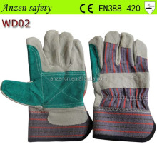 warm truck driver cow split leather gloves for driver