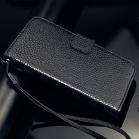 Men's Retro Real Leather Wallet Case for iPhone 5 5S