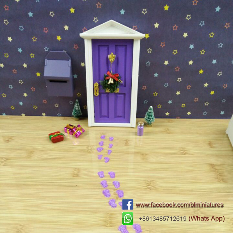 Purple Fairy Door Accessories letter from the tooth fairy