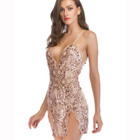 FS1479A S European style women sexy club wear sequins dresses