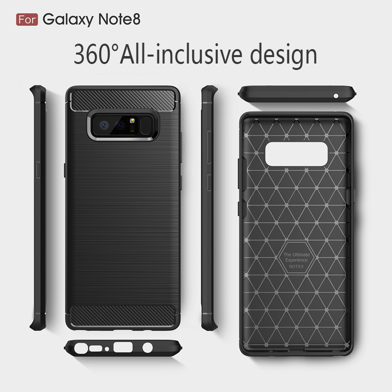 For Mobile Phone Back Cover Protector, Wire Drawing Process Cell Phone Case for Samsung Galaxy Note 8