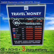 LED bank rate boards LED Currency Exchange Rate/Interest rate Display board