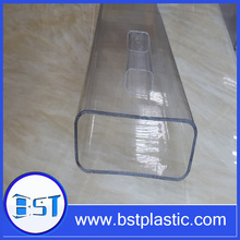 Extrusion high quality clear PVC square packing tube