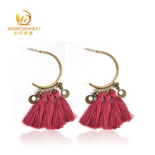Factory Wholesale Tassel Alloy Tassel Earrings women