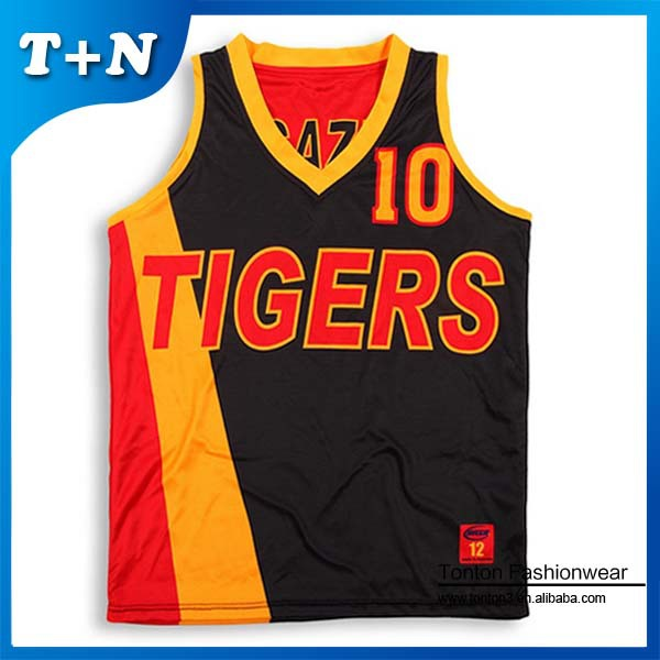 2015 custom made sublimation print basketball jersey