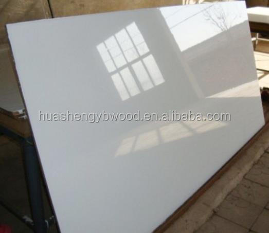 1220*2440*18mm High Gloss white color UV MDF Board for furniture