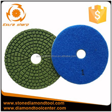 4 inch diamond grinding pad in 3 steps polishing