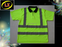 Fluorescent Yellow High Visibility Polo Shirts
