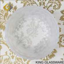 Custom OEM wholesale white colored jade glass fruits and vegetables salad mixing bowl wholesale