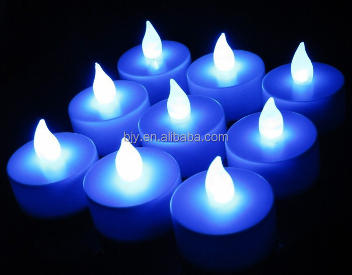 5Colors LED Candles Light Operated Battery Flickering Flicker Flameless Tealight Romance Wedding Birthday Party
