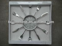 promotional wall clock knife and fork shape