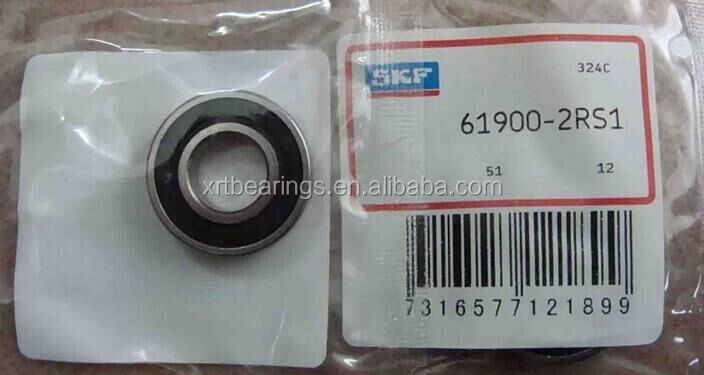 SKF China Cheap Famous Brand Deep Groove Ball Bearing SKF 61900-2RS1